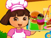 Dora Fun Cafe Game