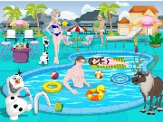 Frozen Swimming Pool Decoration Game